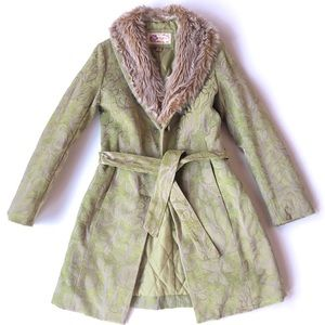 Vintage Faux Fur Quilted Coat